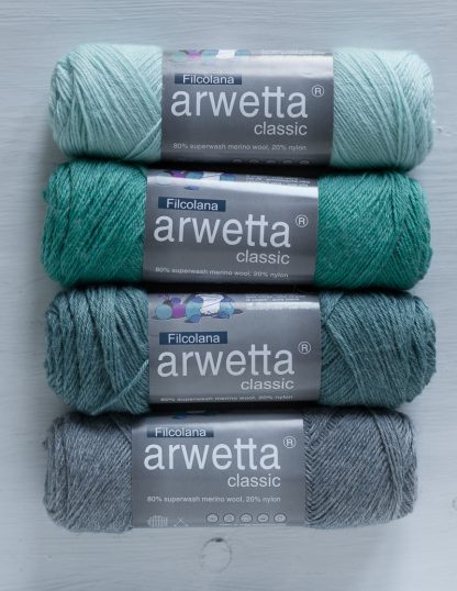Filcolana - Arwetta - Aqua - Opal Green - Aqua Mist - Granite