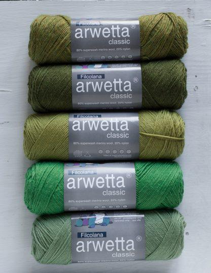 Filcolana - Arwetta - Avokado - Deep Olive - Spring Green - Juicy Green - Basswood Green