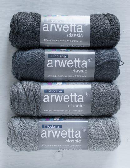 Filcolana - Arwetta - Charcoal - Slate - Medium Grey - Light Grey