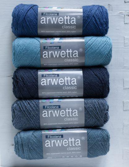 Filcolana - Arwetta - Deep Ultramarine - Misty Lagoon - Navy Blue, Jeans Blue - Steel Blue