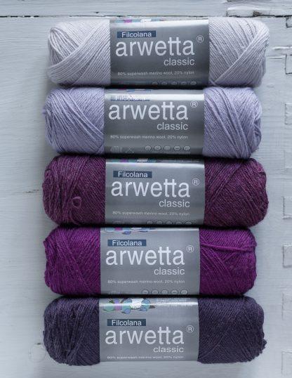 Filcolana Arwetta - Delicate Orchid - Lavender Frost - Boysenberry - Deep Orchid - Grape Royal