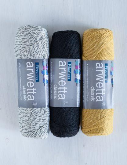 Filcolana - Arwetta - Ragsock, Black, Straw
