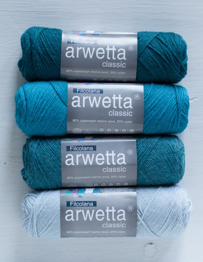 Filcolana - Arwetta - Teal - Hawaiian Sea, Caribbean Sea - Ice Blue