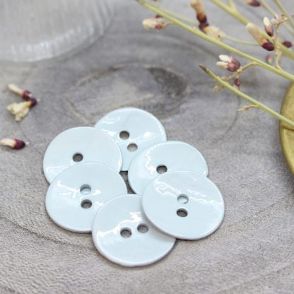 Glossy Buttons - Sage