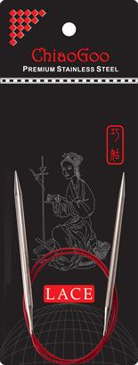 ChiaoGoo-pyöröpuikotChiaoGoo Red Lace -pyöröpuikot