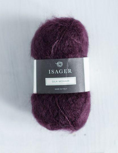 Isager Silk Mohair - Burgundi 36