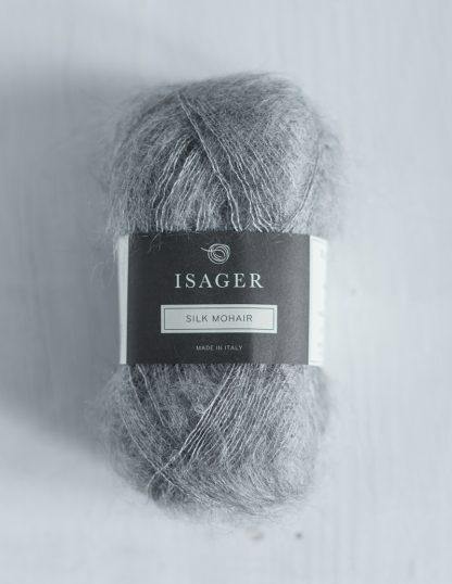 Isager Silk Mohair - Harmaa 3S