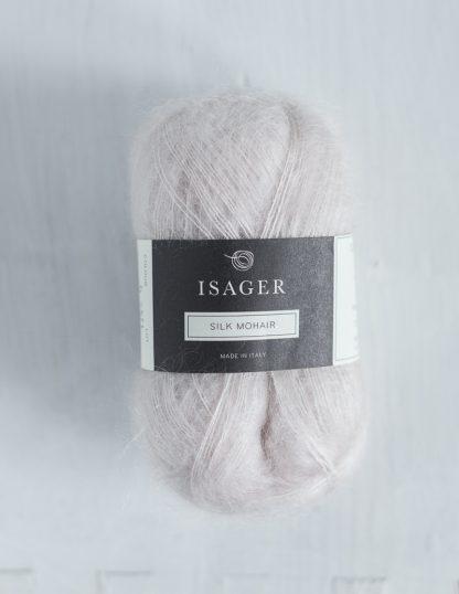 Isager Silk Mohair - Luonnonvaalea 0
