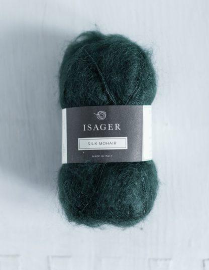 Isager Silk Mohair - Metsänvihreä 37