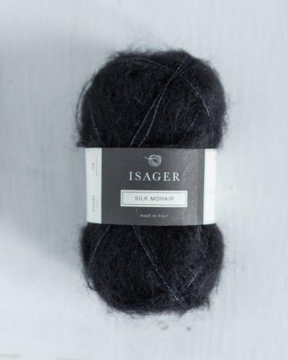 Isager Silk Mohair - Musta 30