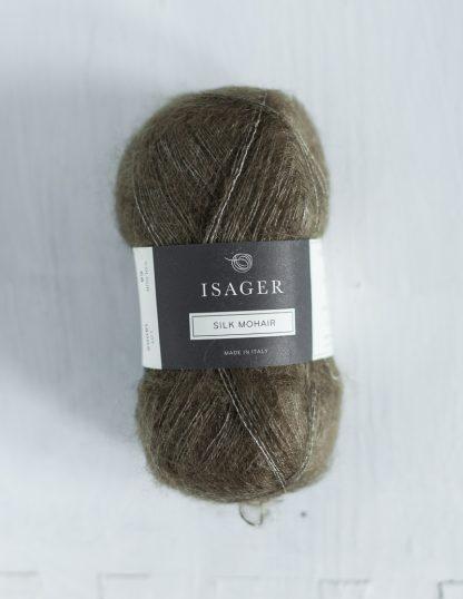 Isager Silk Mohair - Oliivinvihreä 68