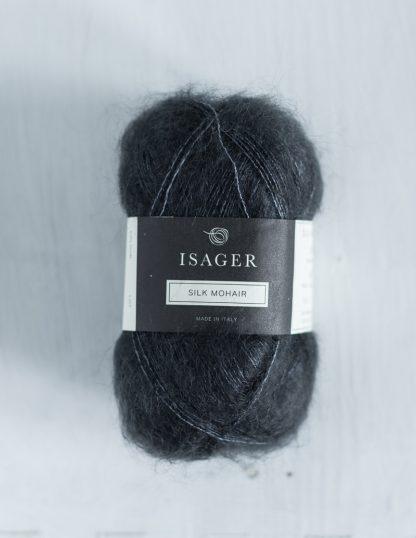Isager Silk Mohair - Tumma, sinertävä harmaa 47