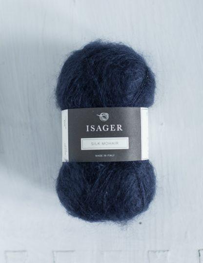 Isager Silk Mohair - Tummansininen 100