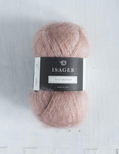Isager Silk Mohair - Vaaleanpunainen 62