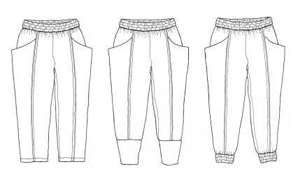Arenite Pants -ompelukaava - Sew Liberated