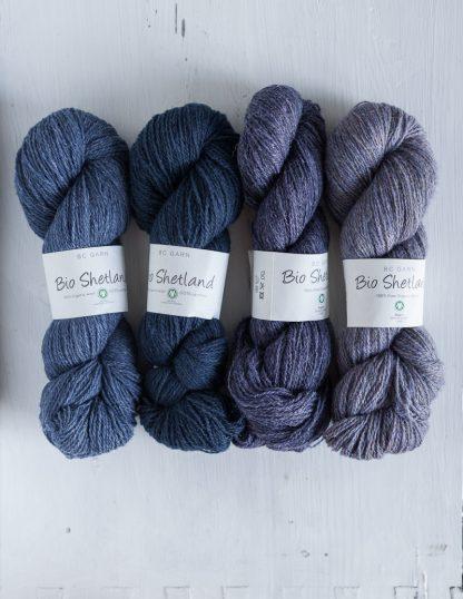 BC Garn - Bio Shetland - Jeans - Deep Ocean - Dark Violet - Light Violet