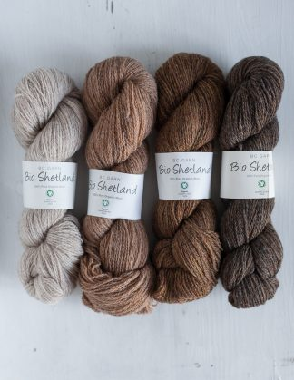 BC Garn Bio Shetland - Light Camel Marled - Straw - Walnut - Brown Marled