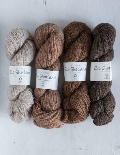 BC Garn - Bio Shetland - Light Camel Marled - Straw - Walnut - Brown Marled