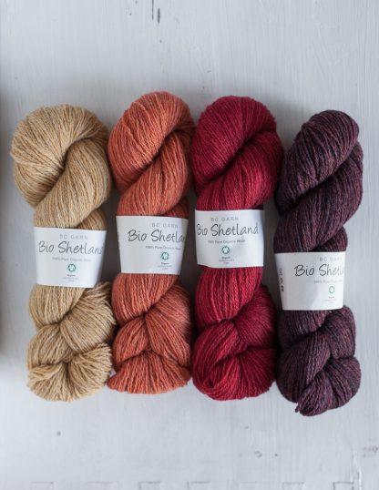 BC Garn - Bio Shetland - Wheat - Salmon - Cherry - Copper Marled