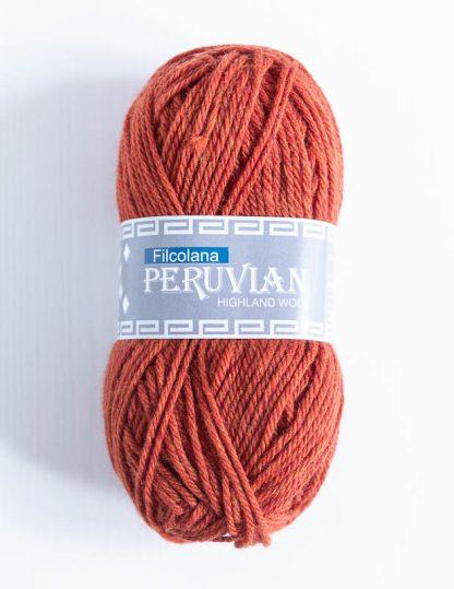Filcolana Peruvian Highland Wool - Rust melange 803