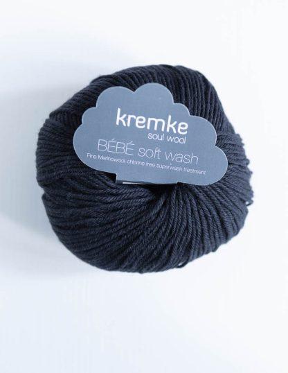 Kremke Soul Wool - Bebe Soft Wash - Musta