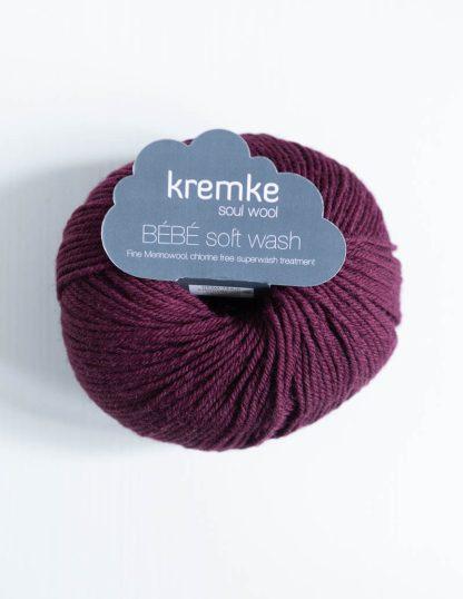 Kremke Soul Wool - Bebe Soft Wash - Viininpunainen