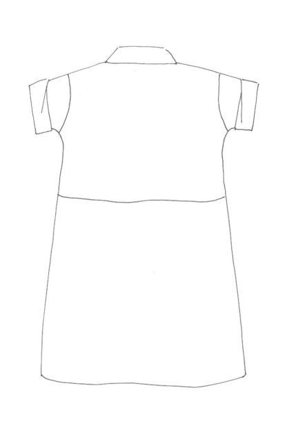 Merchant & Mills - The Factory Dress -ompelukaava - Rakennekuva