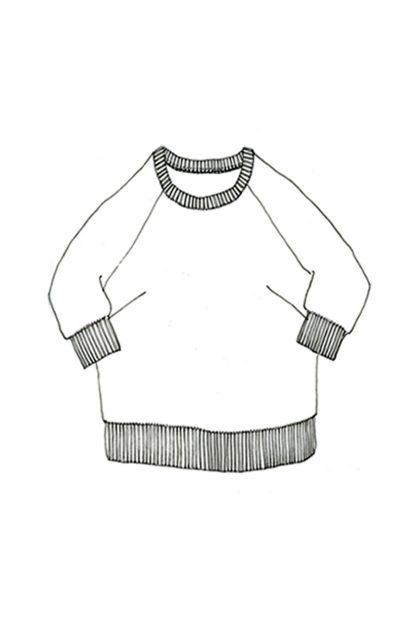 Merchant & Mills - Fielder-ompelukaava - Paidan rakennekuva