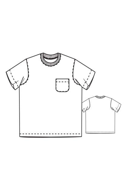 Merchant & Mills - Tee Shirt -ompelukaava - Rakennekuva