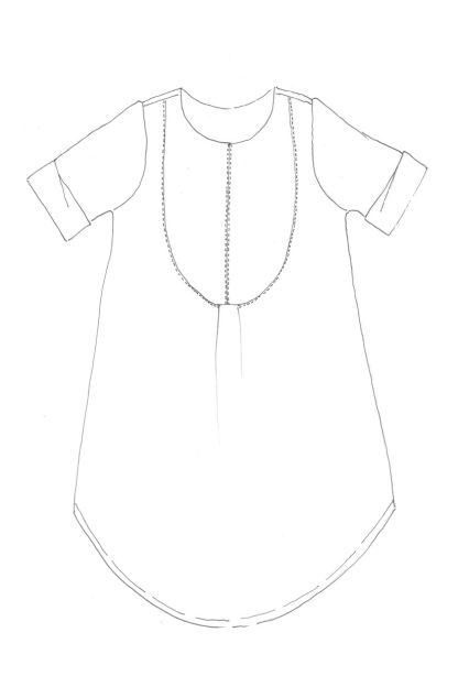 Merchant & Mills - The Dress Shirt -ompelukaava - Rakennekuva