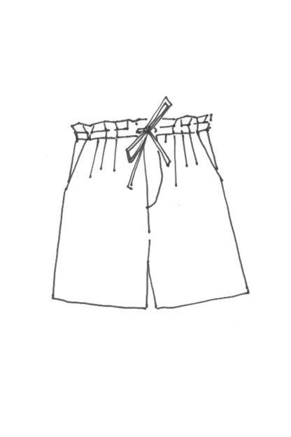 Merchant & Mills - The 101 Trousers -ompelukaava - Shortsien rakennekuva