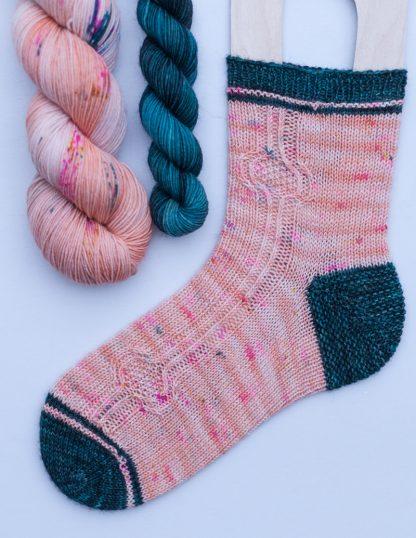 Pom Pom BFL Sock -sukkasetti - Sorbet + Jalokivi
