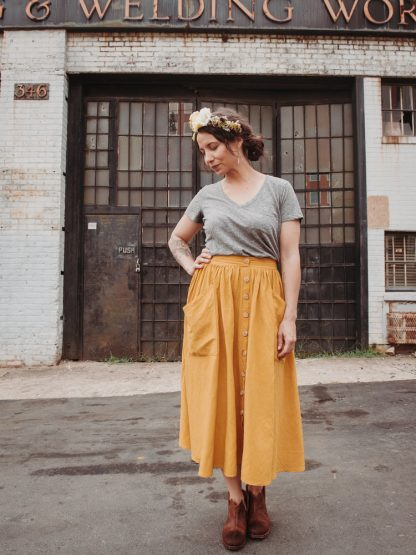 Estuary Skirt -ompelukaava - Sew Liberated