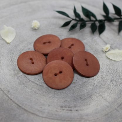 Palm Buttons - Chestnut