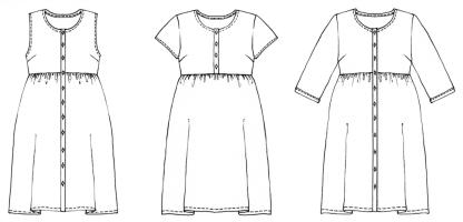 Hinterland Dress -ompelukaava - Rakennekuva