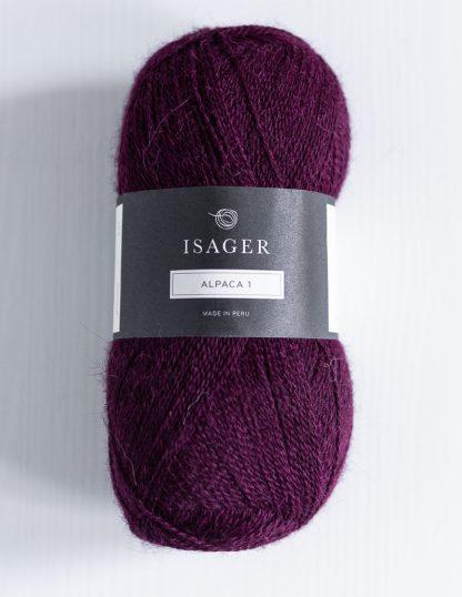 Isager Alpaca 1 - Viininpunainen 36