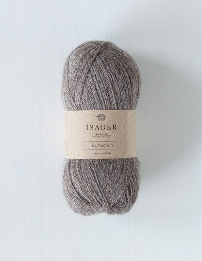 Isager Alpaca 1 - Vaaleanruskea, värjäämätön - E7S