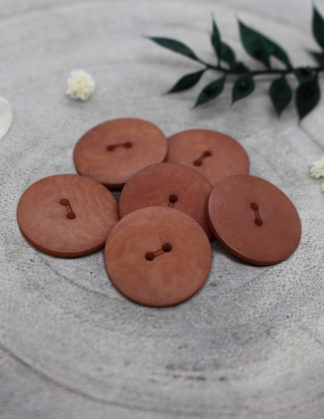 Palm Butttons - Chestnut