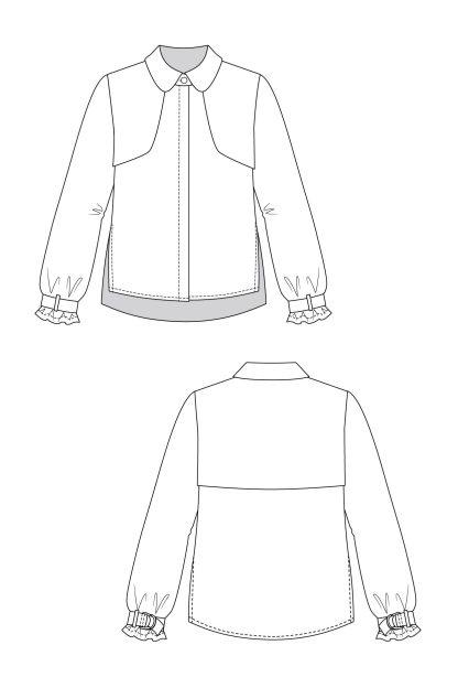 Helmi trench blouse & tunic dress -ompelukaava