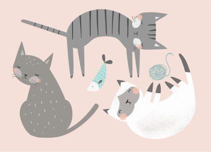 Lulu ja helina -postikortit - Kissat