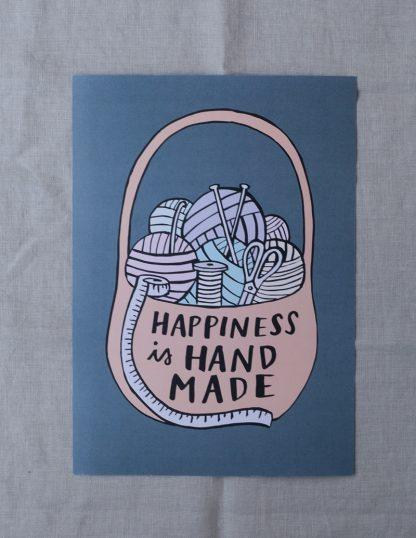 Happiness is handmade -juliste