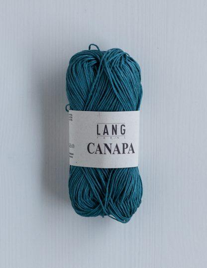 Lang Yarns Canapa - Turkoosinsininen 88