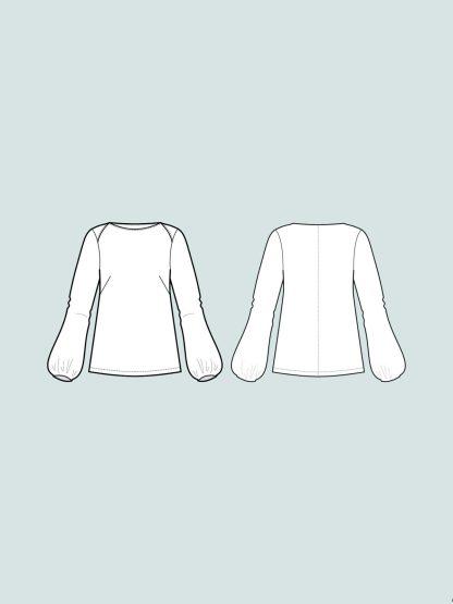 Puff Shirt -ompelukaava rakennekuva
