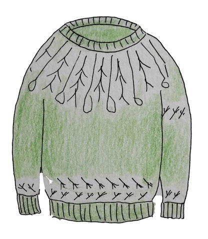 Metsänpeitto-puseron neuleohje