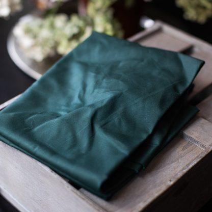 Dry Waxed -luomupuuvillakangas, Dark Green