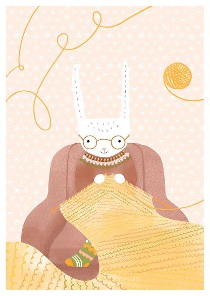 Tuuliamoods-postikortit - Neulomisen ilo
