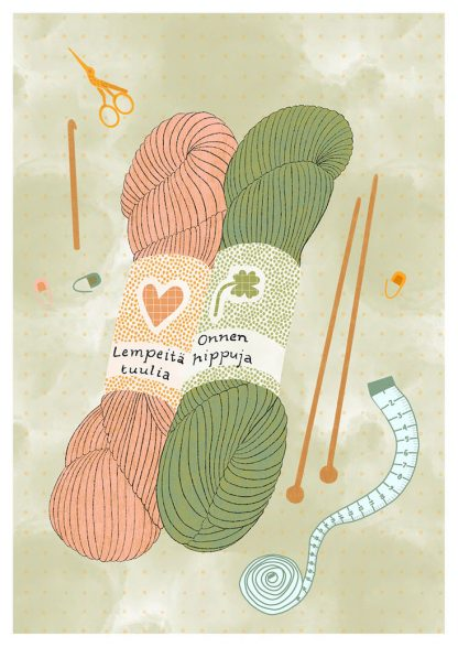 Tuuliamoods-postikortit - Onnenhippuja