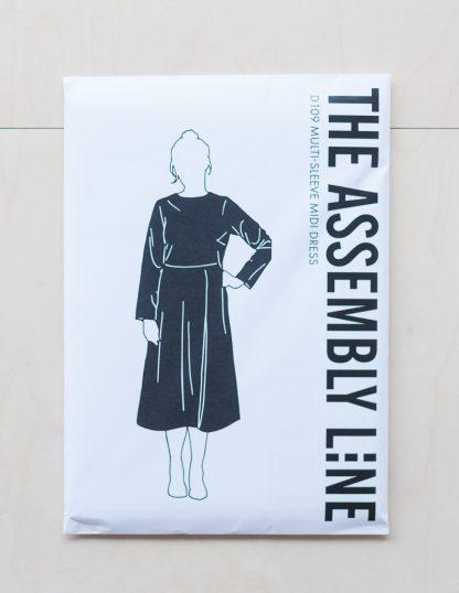 Multi Sleeve Midi Dress -ompelukaava