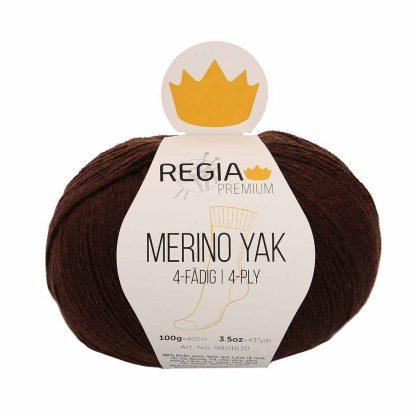 Regia Premium - Merino Yak - Suklaanruskea 07522