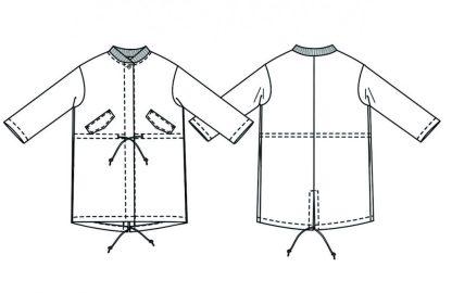 Merchant & Mills - TN31 Parka -ompelukaava - Rakennekuva